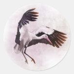 Stork Round Stickers