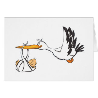 Stork with Baby - Gift for Parents to be Greeting Card