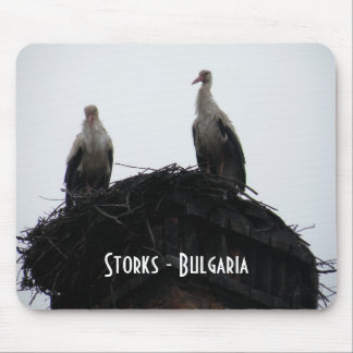 Storks - Bulgaria Mouse Pad