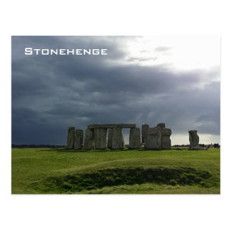 Storm and Stonehenge Postcard