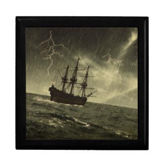 Storm at Sea Large Square Gift Box