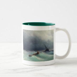Storm at Sea Two-Tone Coffee Mug