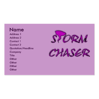 STORM CHASER BUSINESS CARDS