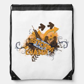 Storm Chaser Grunge Backpack Drawstring Bag