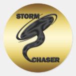 STORM CHASER ROUND STICKER