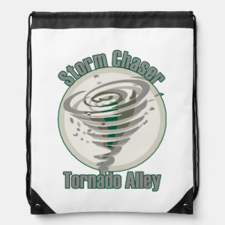 Storm Chaser Tornado Alley Backpack Drawstring Bag