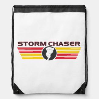 Storm Chaser Tornado Logo Drawstring Bag