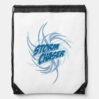 Storm Chaser Twisted Tornado Logo Drawstring Bag