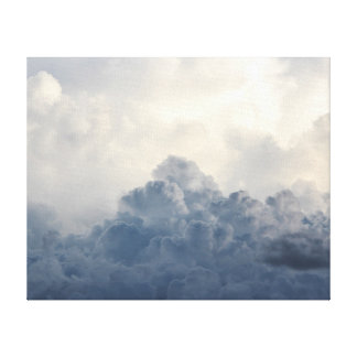 Storm Cloud Heavenly White Clouds In Sky Stretched Canvas Print