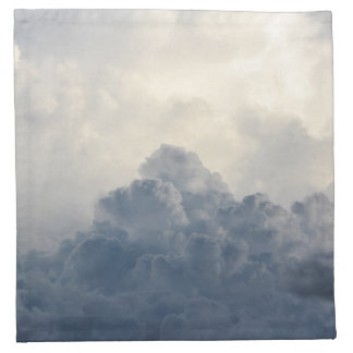 Storm Cloud Heavenly White Clouds In Sky Napkin