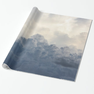 Storm Cloud Heavenly White Clouds In Sky Wrapping Paper