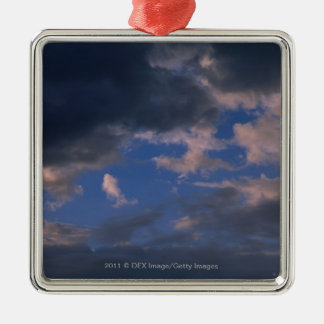 Storm clouds against blue sky christmas ornament