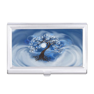 Storm Clouds and Tree Business Card Case