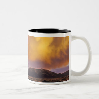 Storm Clouds in the Centennial Range in Montana Two-Tone Coffee Mug