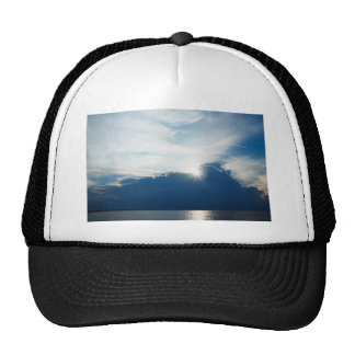 Storm clouds moving away in the morning cap