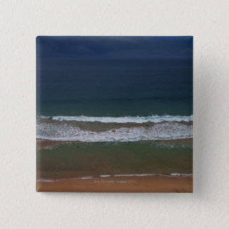 Storm clouds out ot sea above Mona Vale Beach 15 Cm Square Badge