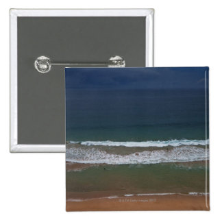 Storm clouds out ot sea above Mona Vale Beach Pinback Button