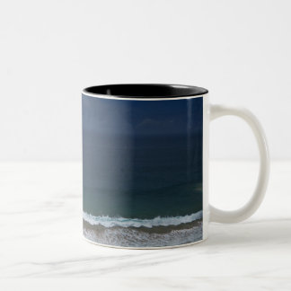 Storm clouds out ot sea above Mona Vale Beach Two-Tone Coffee Mug