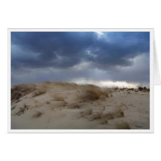 Storm Clouds Over Cape Cod Dune Greeting Cards