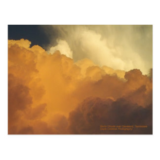Storm clouds over Cleveland, Tennessee Postcard