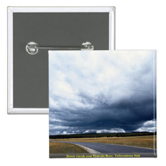 Storm clouds over Firehole River, Yellowstone Nati Pin