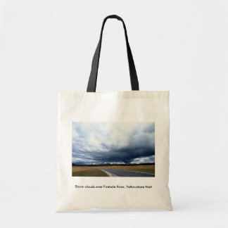 Storm clouds over Firehole River Yellowstone Nati Bag