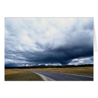 Storm clouds over Firehole River, Yellowstone Nati Greeting Card