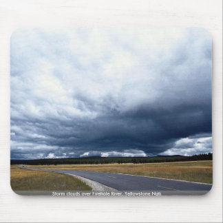 Storm clouds over Firehole River Yellowstone Nati Mousepads