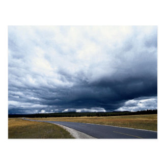 Storm clouds over Firehole River Yellowstone Nati Postcards