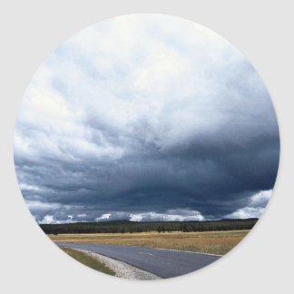 Storm clouds over Firehole River Yellowstone Nati Sticker