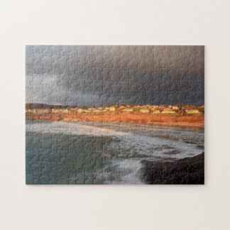 Storm Clouds Over Polzeath Jigsaw Puzzle