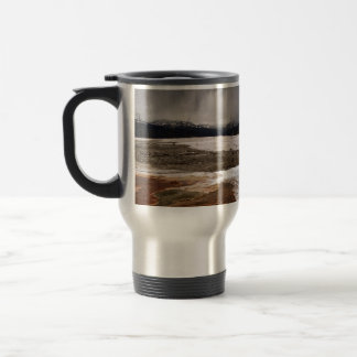 STORM CLOUDS OVER YELLOWSTONE NATIONAL PARK STAINLESS STEEL TRAVEL MUG