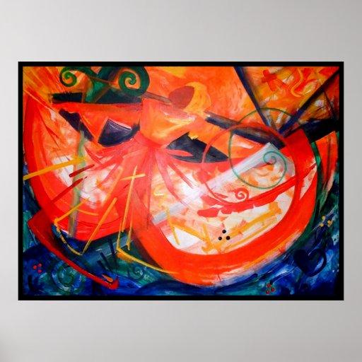 Storm Dancer - Haitian Art - Black Art Poster