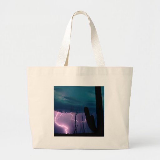 Storm Desert Snap Bolts Tote Bags