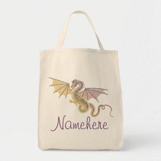 Storm Dragon Grocery Tote Bag