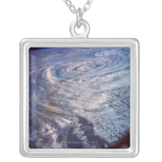 Storm Formation Silver Plated Necklace
