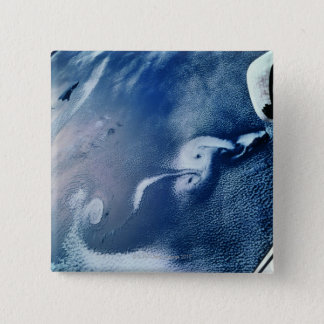Storm Formations above Earth 15 Cm Square Badge