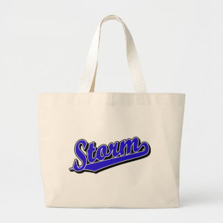Storm in Blue Canvas Bag