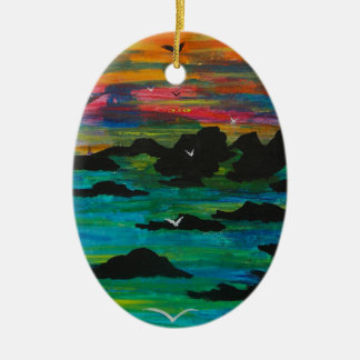 Storm in the distance christmas ornament