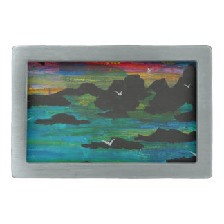 Storm in the distance rectangular belt buckles