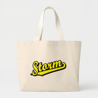 Storm in Yellow Tote Bags