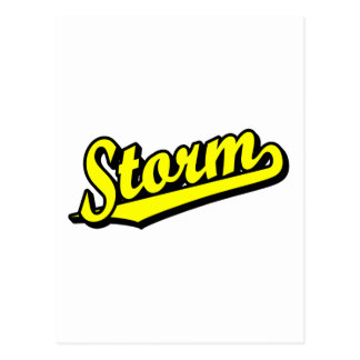 Storm in Yellow Postcard