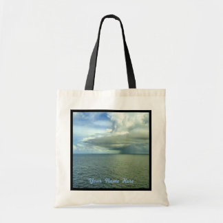 Storm Off Starboard Black Trim Personalized Tote Bag