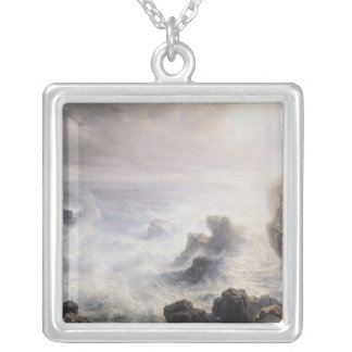 Storm off the Coast of Belle-Ile Silver Plated Necklace