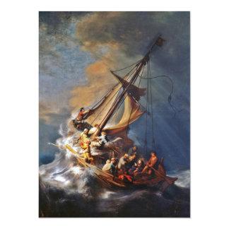 Storm on the Sea of Galilee 14 Cm X 19 Cm Invitation Card