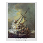Storm On The Sea Of Galilee By Rembrandt Van Rijn Poster