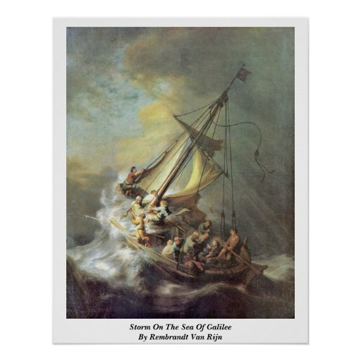 Storm On The Sea Of Galilee By Rembrandt Van Rijn Posters