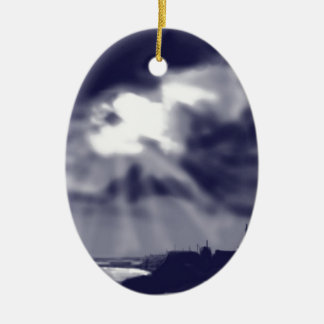 Storm over Bridlington Ceramic Oval Decoration