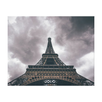 Storm Over Eiffel Wrapped Canvas Art