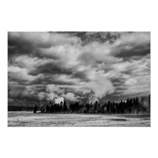 STORM over FIREHOLE LAKE DRIVE Poster